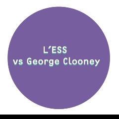 L'ess vs george clooney